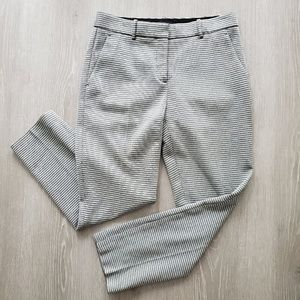 Theory Treeca K Micro Houndstooth Slim Crop Knit